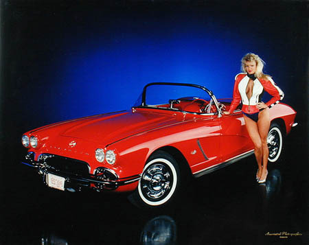 Car photography Red Corvette